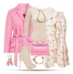 """""""Spring Delight"""" by belladonnasjoy ❤ liked on Polyvore featuring Ganni, Miss Selfridge, PatBo, Gianvito Rossi, Hermès, contest and contestentry"""