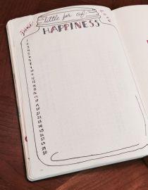 bullet journal gratitude log