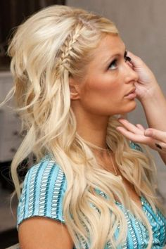 Wedding hair: braid