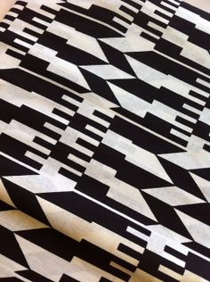 Black and white kente graphic abstract print by AfricanPrintFabric, £3.50