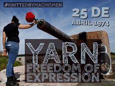 #25deabril #yarnfreedomexpression #knitting #knittedbymachomen