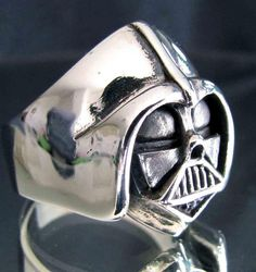 Silver DARTH VADER RING Star Wars Jewelry by Sterling925Silver