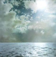 Gerhard Richter seascape oil on canvas 1969