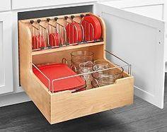 "RAS-4FSCO-24SC-1 | Rev-A-Shelf Food Storage Container Organizer for 21""W Opening/Base Cabinet - (Wood) | thehardwarehut.com"