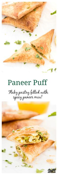 Crispy, flaky Indian Paneer Puff is great with a cup of masala chai.