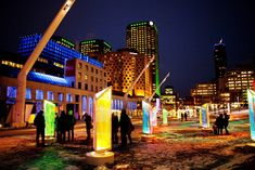 v2com newswire | Urban Design | Luminothérapie: interactive and digital public art illuminate winter in Montreal's Quartier des Spectacles - Bureau du design - Ville de Montréal  @Cindy Boyce