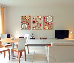 Trio de Telas Floral Colours 50x70cm