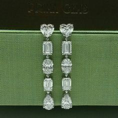 (@primagems_official) Fancy Shaped Diamond Earrings featuring an elegant and delicate look #PrimaGems