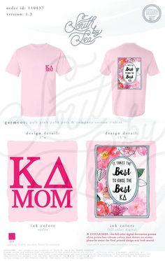 Kappa Delta | KD | Mothers Weekend | Mom's Weekend | Watercolor Digital Print | South by Sea | Greek Tee Shirts | Greek Tank Tops | Custom Apparel Design | Custom Greek Apparel | Sorority Tee Shirts | Sorority Tanks | Sorority Shirt Designs