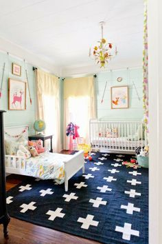 mint + navy adorable kids room