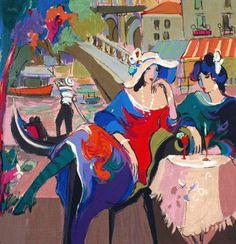 Isaac Maimon Cafe La Parisienne Serigraph on Paper Scenic | eBay
