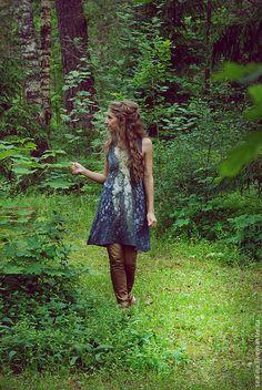 Купить или заказать Идриль- хранительница леса в интернет-магазине на Ярмарке Мастеров. Идриль- хранительница леса. Эта туника была выполн…