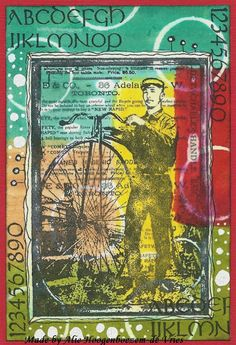 Art Journey Stamps and Distress stains, card made by Alie Hoogenboezem-de Vries