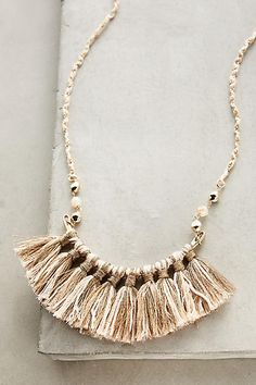 Ombre Fringe Necklace - anthropologie.com