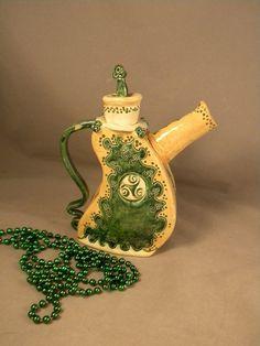 Celtic Teapot by joycepottery on Etsy, $85.00