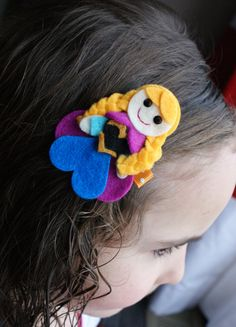 Princess Anna Inspired Hair Clip  Frozen by CravingCuteness, $3.75