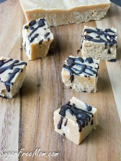 3 Ingredient Peanut Butter Fudge made low carb, sugar free and dairy free! Keto, LCHF Recipe.