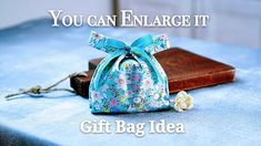 Gift Bag Idea / You can Enlarge it become A big Shopping Bag /礼物袋教学可以放大变...