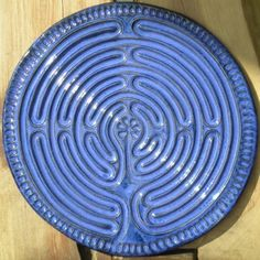Finger labyrinth. I would love to have one of these in my office and to use with the youth group! Peaceful and centering.