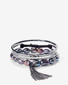 10MM Gray Freshwater Pearl Bracelet