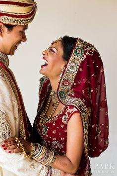 indian wedding and bridal and groom attire