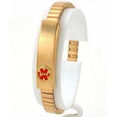 "Medical ID Information Bracelet Gold Plated 7"" ** Continue @ http://www.amazon.com/gp/product/B002E233JW/?tag=splendidjewelry07-20&pop=140716141113"