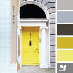 Design Seeds, for all who love color This site can find you any palette by theme or a favorite color Design Seeds, Colour Schemes, Color Combos, Paint Schemes, Pantone, Yellow Doors, Color Palate, Bedroom Colors, Bedroom Yellow
