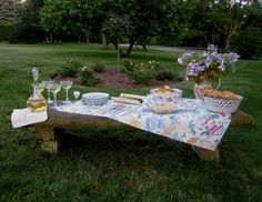 The Tablescaper: Dinner in the Rose Garden Picnic Blanket, Outdoor Blanket, Dinner, Rose, Garden, Tables, Furniture, Summer, Home Decor
