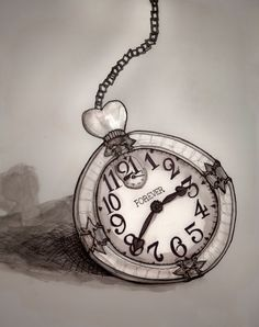Alice in Wonderland Art Illustrations | ... roberts painting of a clock from Alice in Wonderland for Forever21