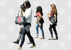 Group of young women walking- cutout of the day for 11.5.2016 by Gobotree