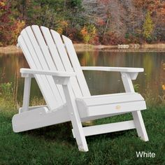 Highwood Eco-friendly Synthetic Wood Embossed Folding And Reclining Adirondack…