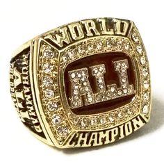 Boxing World Champion Muhammad Ali Championship Ring 1978 Size Boxing Champions, Championship Rings, Muhammad Ali, Dream Ring, Signet Ring, Class Ring, Things To Come, World, Sports