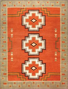 LW30H, paprika/khaki – Southwestern rugs, Luxury Lodge comes to life in this imaginative collection. Traditions of the past meet modern needs for quality, beauty and comfort in these unique and timeless designs inspired by Native American motifs from the American Southwest. Soft pile weave replaces the traditional flat weave of typical Navajo-inspired carpets, resulting in luxuriously soft, superior quality hand-woven rugs.