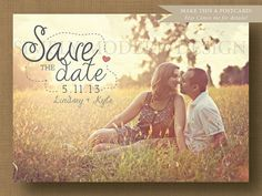 rustic save the date, PRINTABLE via Etsy