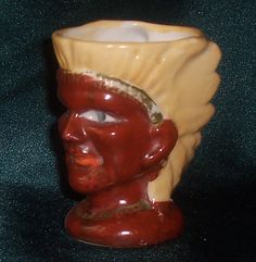 Indian egg cup c 1930s-50s. Part of the Egg-Centric Collection, Australia