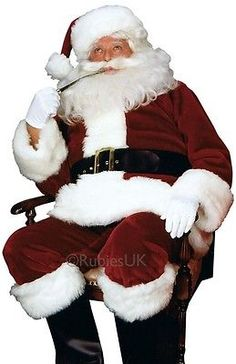 Deluxe Premier brand Father Christmas//Santa suit costume one size complete new