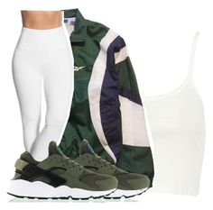 """Untitled #2360"" by kayla77johnson ❤ liked on Polyvore featuring River Island, Reebok, Lyssé Leggings and NIKE"