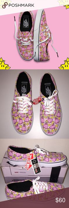 2296b2e293b NWT Vans Authentic Nintendo Princess Peach Limited Edition Princess Peach⭐ Vans  Shoes Sneakers Princess