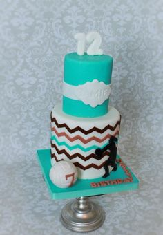 www.facebook.com/nyocakes #nyocakes , www.nyocakes.com serving cedar park tx and Austin, TX surrounding area's .Volley ball birthday  - Cake by Not Your Ordinary Cakes