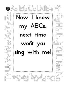 ideas and printables for the ABC book