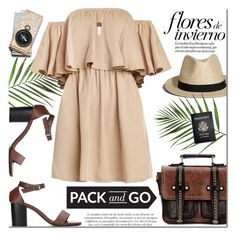 """Pack and go"" by purpleagony ❤ liked on Polyvore featuring Abercrombie & Fitch, Passport, mexico, offshoulderdress, Packandgo and yoins"
