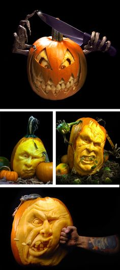 The art of pumpkin carving - these are amazing