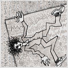 epiléptico sobre alfombra común  ....... by RAMIRO QUESADA    epiléptico sobre alfombra común  /  toma carbamazepina y fenobarbital      autor: RAMIRO QUESADA  técnica: tinta y mixta  dimensiones: 15,8 cm por 15,8 cm   quesadaramiro