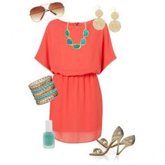 This dress would be excellent to add to my wardrobe! It is feminine, but not revealing. Could wear to work or out.