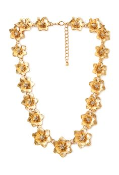 Blooming Chain Necklace | FOREVER21 #Floral #Accessories #Rhinestones a little heavy for me, but cute