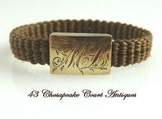 """Image detail for -Victorian Mourning Hair Woven Ring Monogrammed """"ML"""" from ..."""