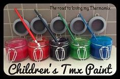Children's Thermomix Paint - The Road to Loving My Thermo Mixer Painting For Kids, Art For Kids, Crafts For Kids, Toddler Fun, Toddler Activities, Homemade Paint, How To Make Paint, Crafty Kids, Arts And Crafts Supplies