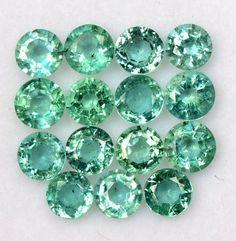 2.25 mm 1.89 Cts Natural Emerald Round Cut Lot 25 Pcs Lustrous Green Gemstones