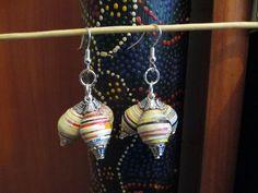 Orecchini paper beads