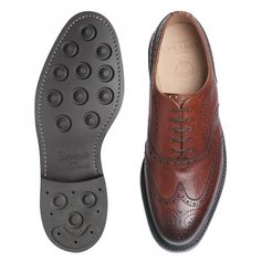 Cheaney Hythe Wingcap Oxford Brogue in Mahogany Grain Leather £320.00